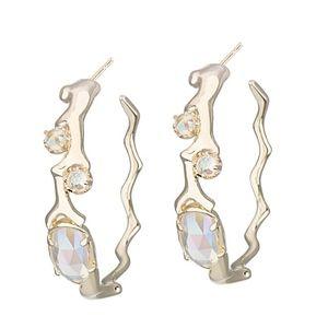 """Kendra Scott """"Kristin"""" gold hoop earrings"""